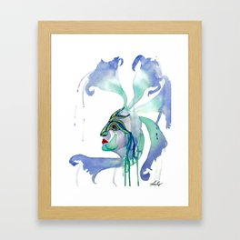 The Goddess of Mardi Gras and Celebration  Framed Art Print