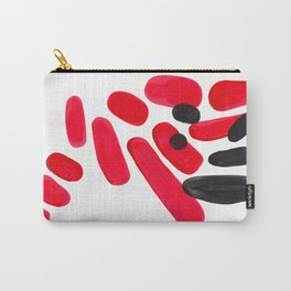 Abstract Minimalist Mid Century Modern Colorful Pop Art Red Organic Shapes Bright Pebbles Carry-All Pouch