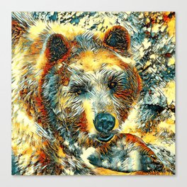AnimalArt_Bear_20170604_by_JAMColorsSpecial Canvas Print