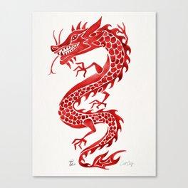 Chinese Dragon – Crimson Palette Canvas Print