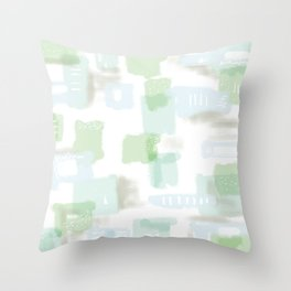 Abstract Conundrum Blue and Green Throw Pillow