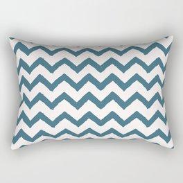 Chevron Teal Rectangular Pillow
