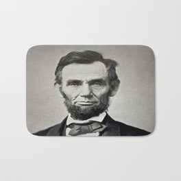 Portrait of Abraham Lincoln by Alexander Gardner Bath Mat
