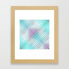 Pastel Tiger Stripes Framed Art Print