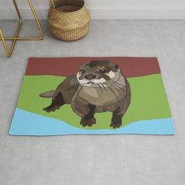 Significant Otter by BeeFoxTree Rug