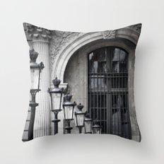 Parisian Streetlamps Throw Pillow