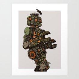 Floral Robot Art Print