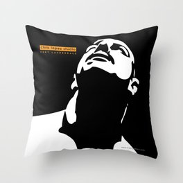 Male face duotone digital illustration Throw Pillow