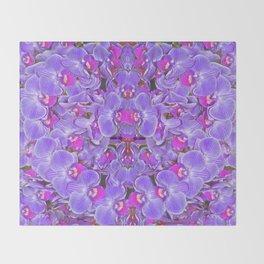 Violet Orchid Pleasure Throw Blanket