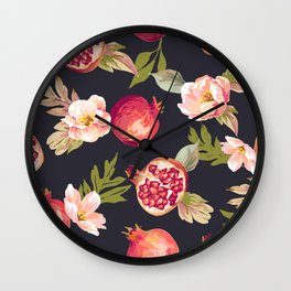 Sweet pomegranate Wall Clock