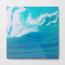 Oceans Roar Metal Print