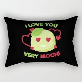I Love You Very Mochi Rectangular Pillow