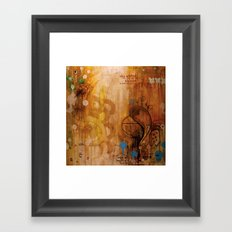 handicapped bull Framed Art Print
