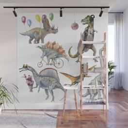 PARTY OF DINOSAURS Wall Mural