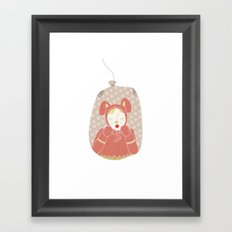 wabbit in a bag Framed Art Print