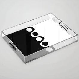 Black and White Mod Acrylic Tray
