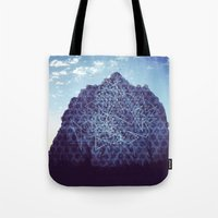 rocky Tote Bags featuring Rocky by 9000things