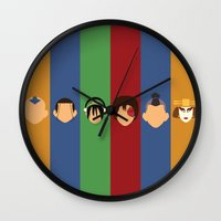 aang Wall Clocks featuring Team Avatar by Adrian Mentus