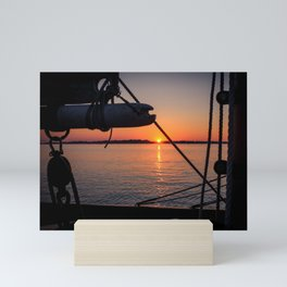 Beautiful Sailing Sunset Mini Art Print