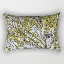 Belted Kingfisher in Flight, No. 1 Rectangular Pillow