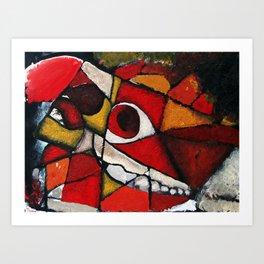 Horse Skull Abstract Art Print