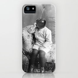 Little Cherry's thoughts. 1921. iPhone Case