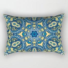 Blue Yellow original Art Rectangular Pillow
