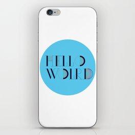 Hello World | Comp Sci Series iPhone Skin