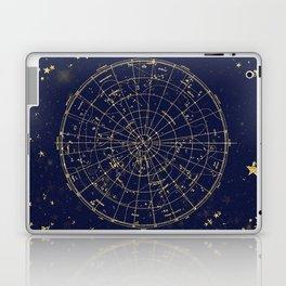 Metallic Gold Vintage Star Map 2 Laptop & iPad Skin