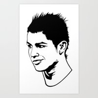 ronaldo Art Prints featuring ronaldo by b & c