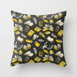 Spellbooks, Yellow Throw Pillow