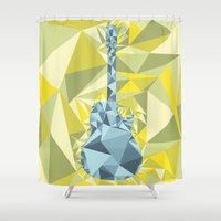 guitar Shower Curtains featuring GUITAR by petitscoquins