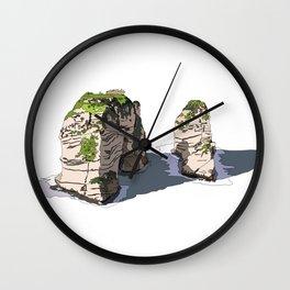Pigeon Rocks, Lebanon Wall Clock
