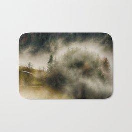 Foggy Forest Landscape Photo Bath Mat