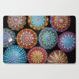 Colorful Mandala painted stones Cutting Board