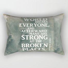 A heroic stance Rectangular Pillow