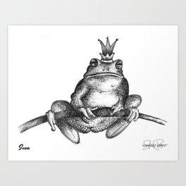 SVEN Frog Prince Print Art Print