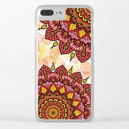 Mandala Amore Clear iPhone Case