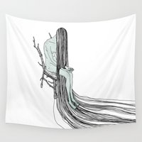 witch Wall Tapestries featuring Witch by Sparganum