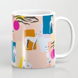 Greyhound colorful abstract pattern Coffee Mug