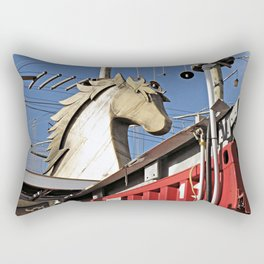 Horse of Another Color Rectangular Pillow