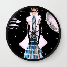 Ethereal Beauty Fashion Illustration By James Thomas Ryan Wall Clock
