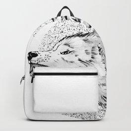 GREY SCREAMING WOLF Backpack