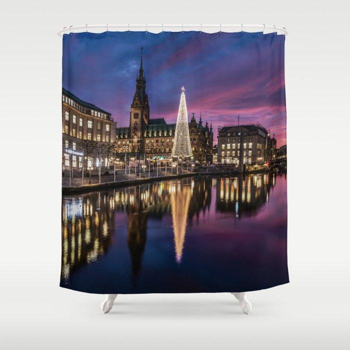Hamburg Christmas Market Shower Curtain
