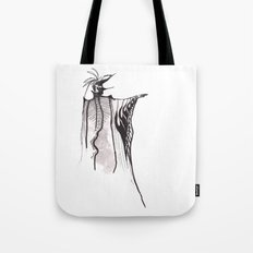 The character and the cape Tote Bag