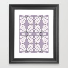 Lavender Wings Framed Art Print