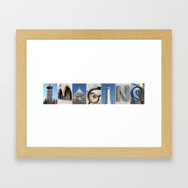 IMAGINE photo letter art typography Framed Art Print