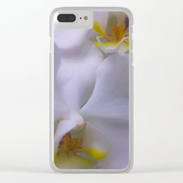 Delicate Blooms Clear iPhone Case