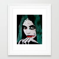 emerald Framed Art Prints featuring Emerald by LisaMMurphyArt