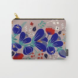 Folk Spring Flowers blooms Carry-All Pouch